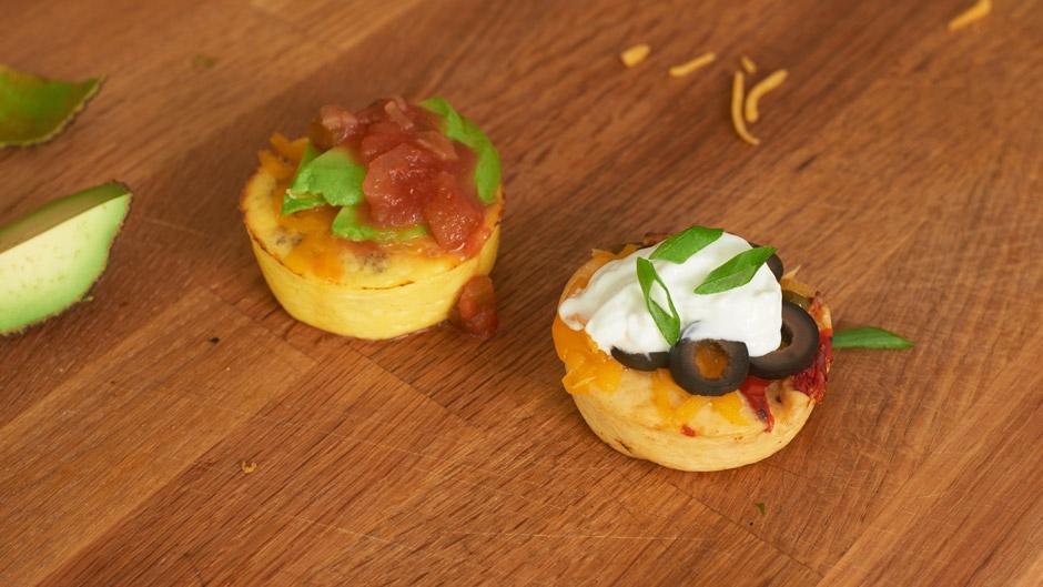 Veggie Egg Bite Omelet Stack